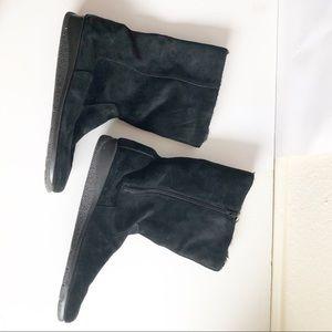 Aerosoles Black Boots Size US 12 Faux Fur Lined
